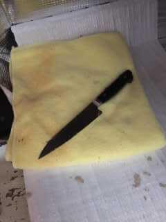 出てきたナイフ