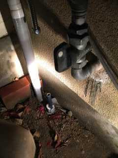 給水管を切ったところ