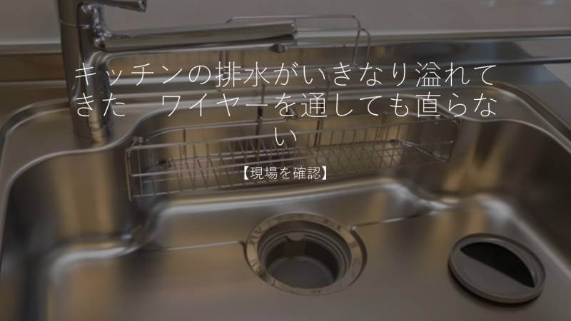 キッチンの排水がいきなり溢れてきた ワイヤーを通しても直らない【現場を確認】