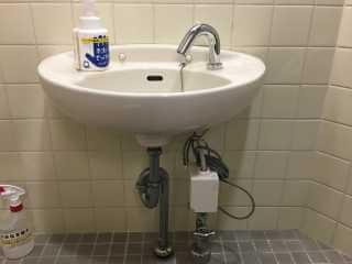 水栓本体の取り付け完了