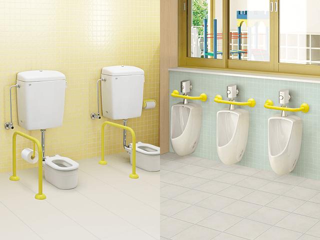 幼稚園のような施設で幼児用トイレの水漏れ修理|尼崎市食満