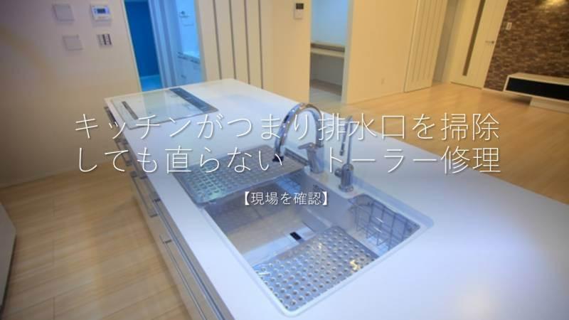 キッチンがつまり排水口を掃除しても直らない トーラー修理【現場を確認】