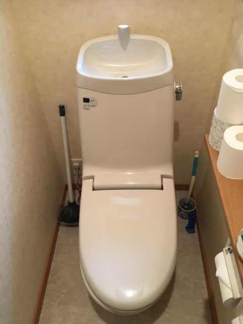 水が溜まりにくいトイレ