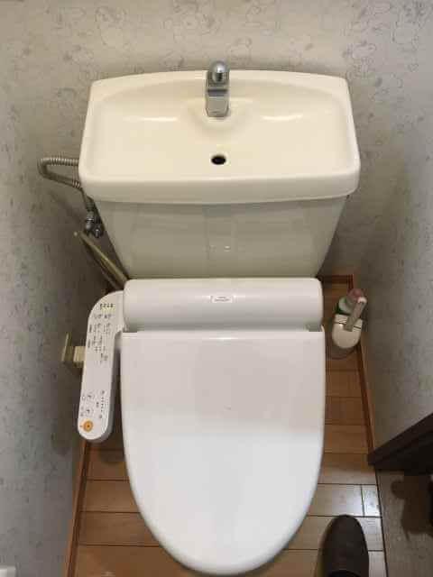 作業後のトイレ