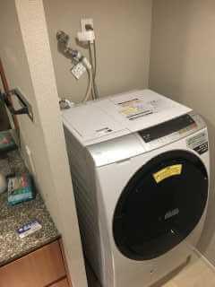 排水がつまっている洗濯機
