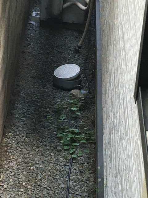 キッチンの裏の小口径桝