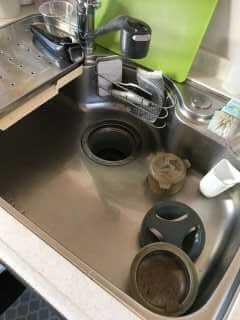 つまっているキッチン