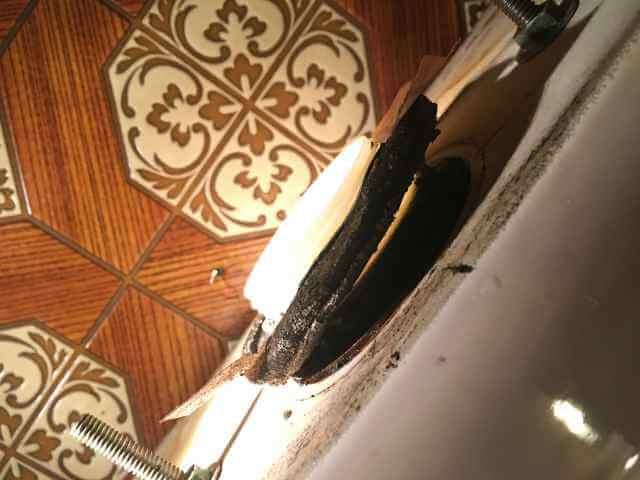 横から見た密結パッキン