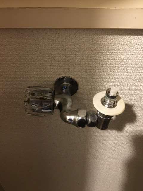洗濯機用水栓を横にしてみた