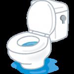 便器内にちょろちょろ漏れ トイレタンク下から水漏れ修理|尼崎市三反田町