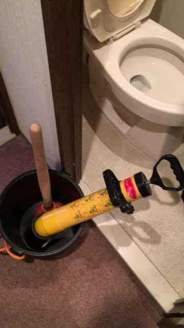 トイレつまり解消道具のローポンプと梵天