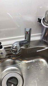 浄水器シャワー付きワンホールシングルレバー混合水栓