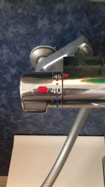 お風呂の蛇口の温度調節機能部