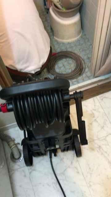 高圧洗浄機の準備