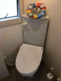 トイレ掃除用のスポンジが流れて詰まったを修理