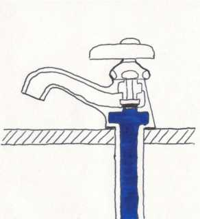 立水栓分解図