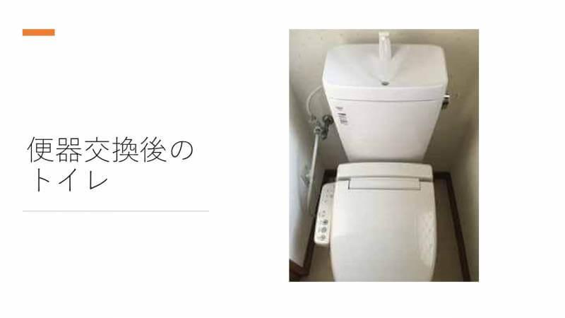 便器交換後のトイレ