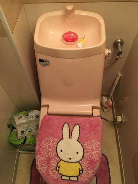 確認作業後のトイレ